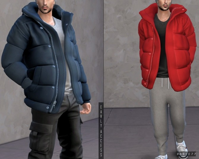Sims 4 Oversized Puffer Jacket (P) at Darte77