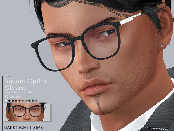 Square Optical Glasses by DarkNighTt at TSR image 11710 Sims 4 Updates