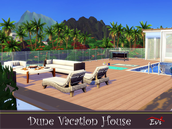 Dune Vacation House by evi at TSR image 1176 Sims 4 Updates