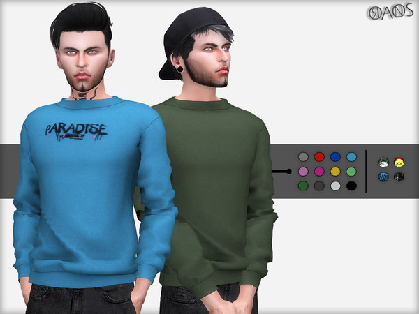 Sims 4 Sweater for males by OranosTR at TSR
