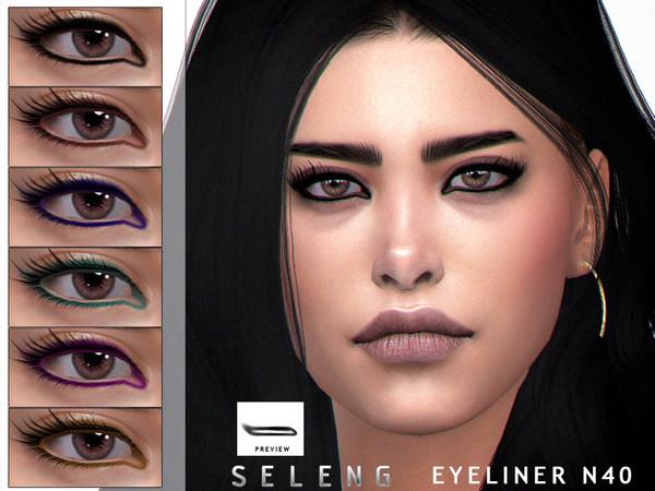 Sims 4 Eyeliner N40 by Seleng at TSR