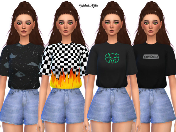 Edgy Tee Shirt Pack by Wicked Kittie at TSR image 1210 Sims 4 Updates