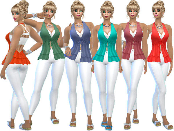 Sims 4 T55 Island outdoor suit by TrudieOpp at TSR