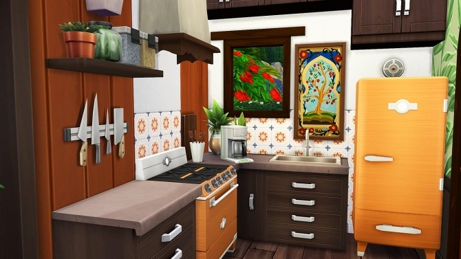 Sims 4 HIPPIE FAMILY'S TINY HOUSE at Aveline Sims
