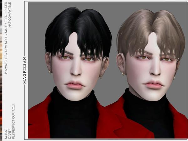 Sims 4 Darby Hair by magpiesan at TSR