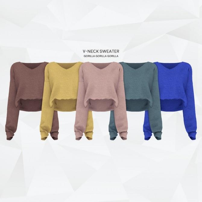 V Neck Sweater at Gorilla image 1257 670x670 Sims 4 Updates