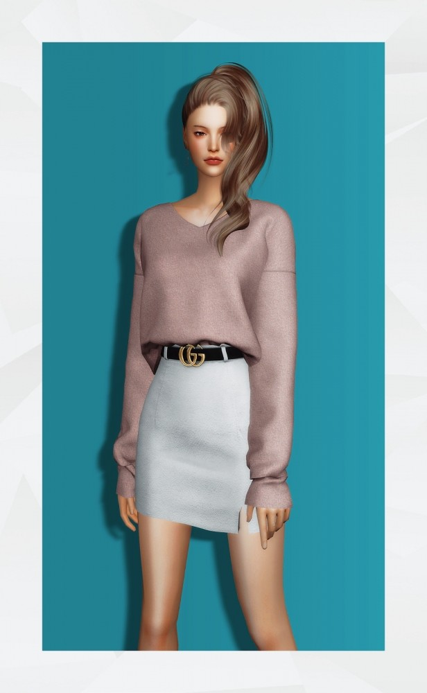 V Neck Sweater at Gorilla image 1267 616x1000 Sims 4 Updates