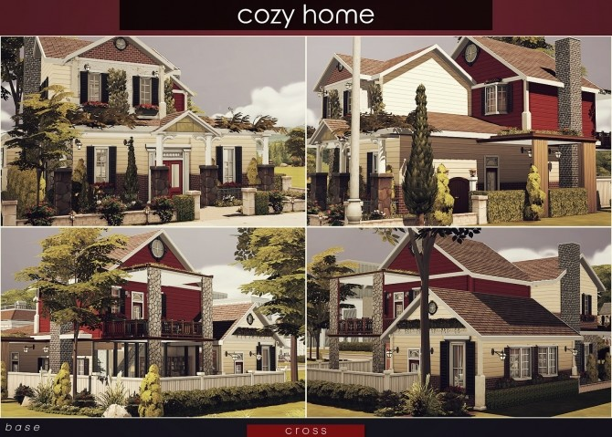 Sims 4 Cozy Home by Praline at Cross Design