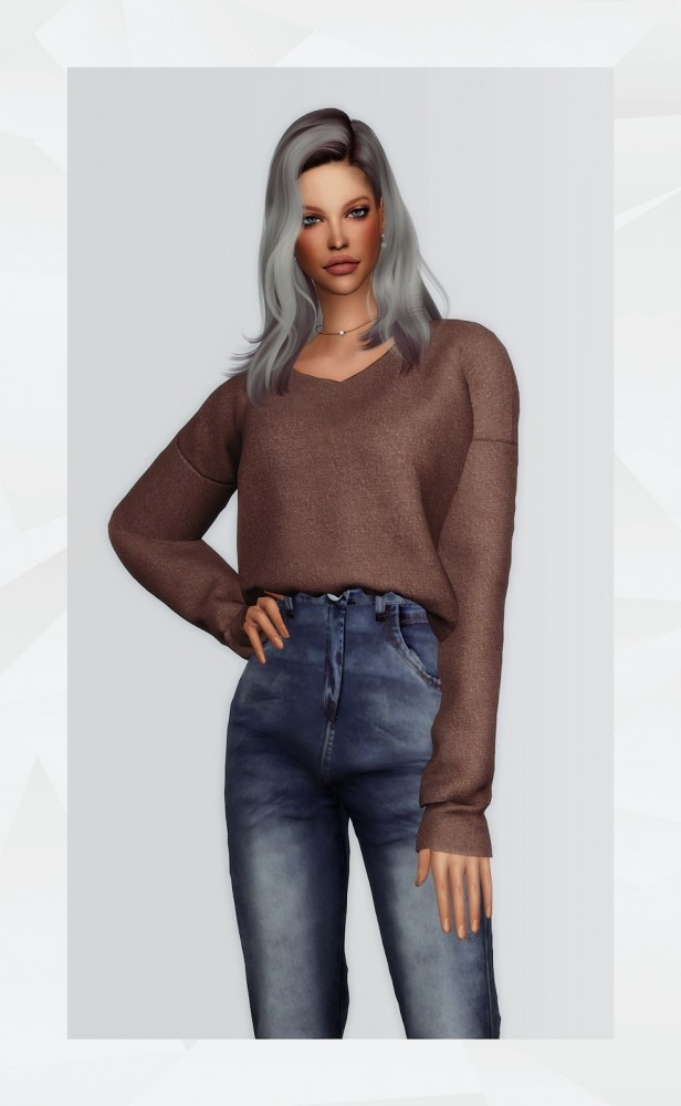 V Neck Sweater at Gorilla image 1277 616x1000 Sims 4 Updates