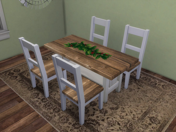 Doggos Farmhouse Dining Table by ItsThatDoggo at TSR image 1280 Sims 4 Updates