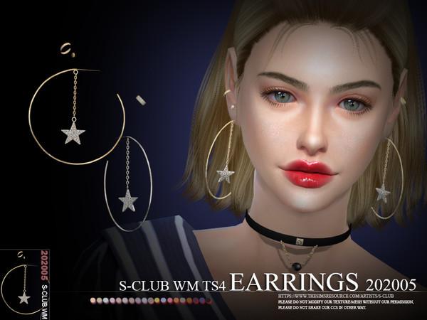 Sims 4 EARRINGS 202005 by S Club WM at TSR
