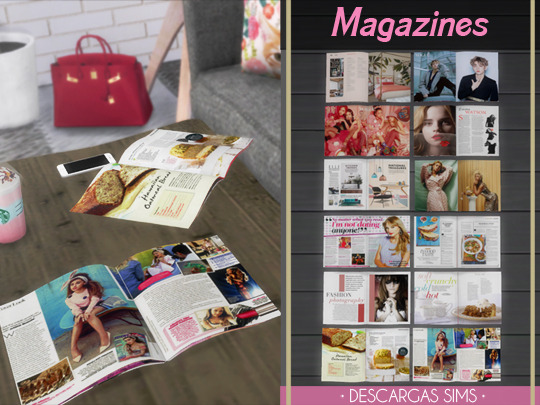 Sims 4 Magazines clutter at Descargas Sims