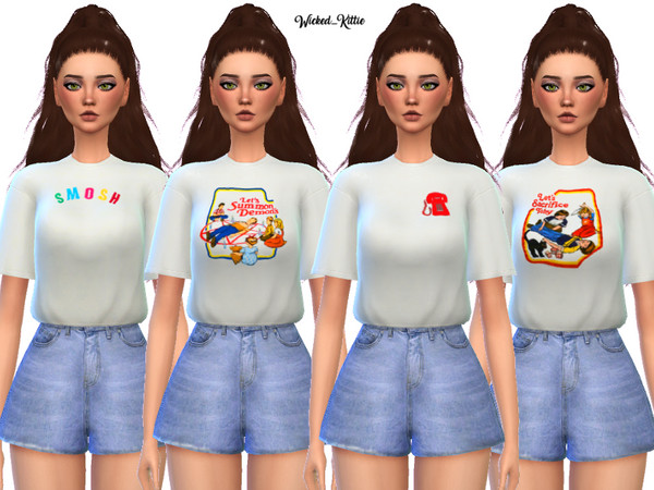 Edgy Tee Shirt Pack by Wicked Kittie at TSR image 1310 Sims 4 Updates