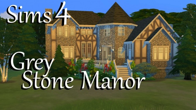 Sims 4 Grey Stone Manor by PolarBearSims at Mod The Sims
