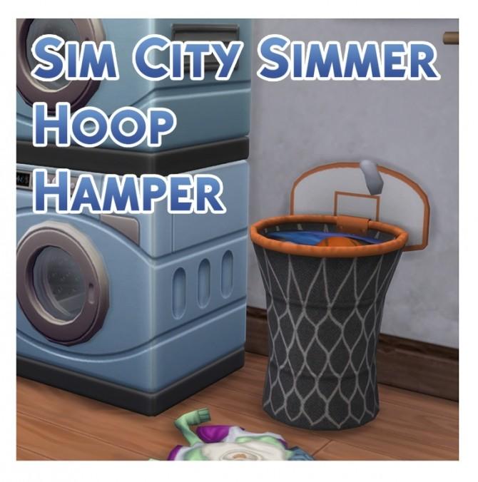 Sims 4 Sim City Simmer Hoop Hamper by Menaceman44 at TSR