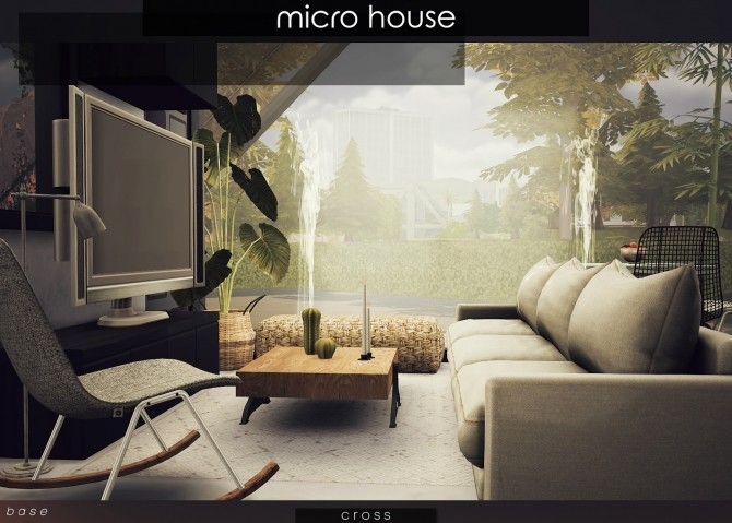 Sims 4 Micro House by Praline at Cross Design