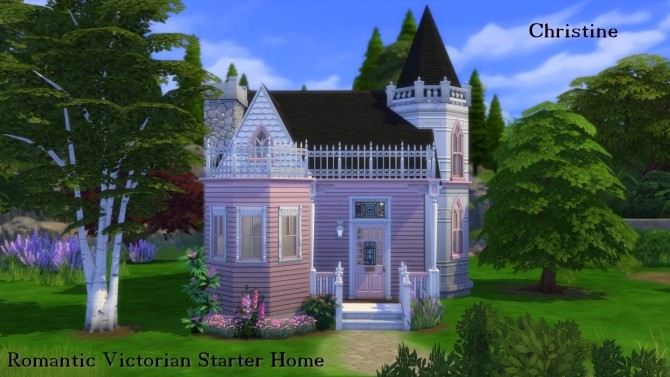 Sims 4 Romantic Victorian Starter Home No CC by Christine11778 at Mod The Sims
