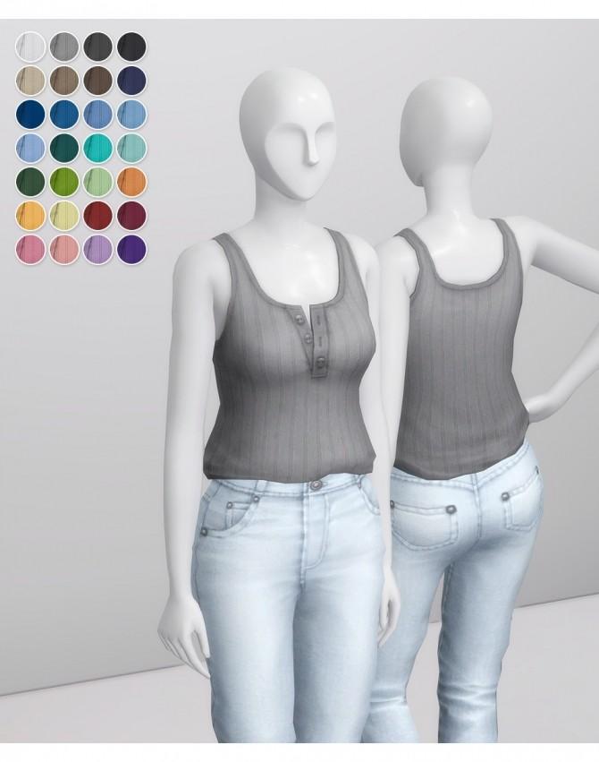Basic Sleeveless T Shirt II Stripe at Rusty Nail image 14410 670x851 Sims 4 Updates
