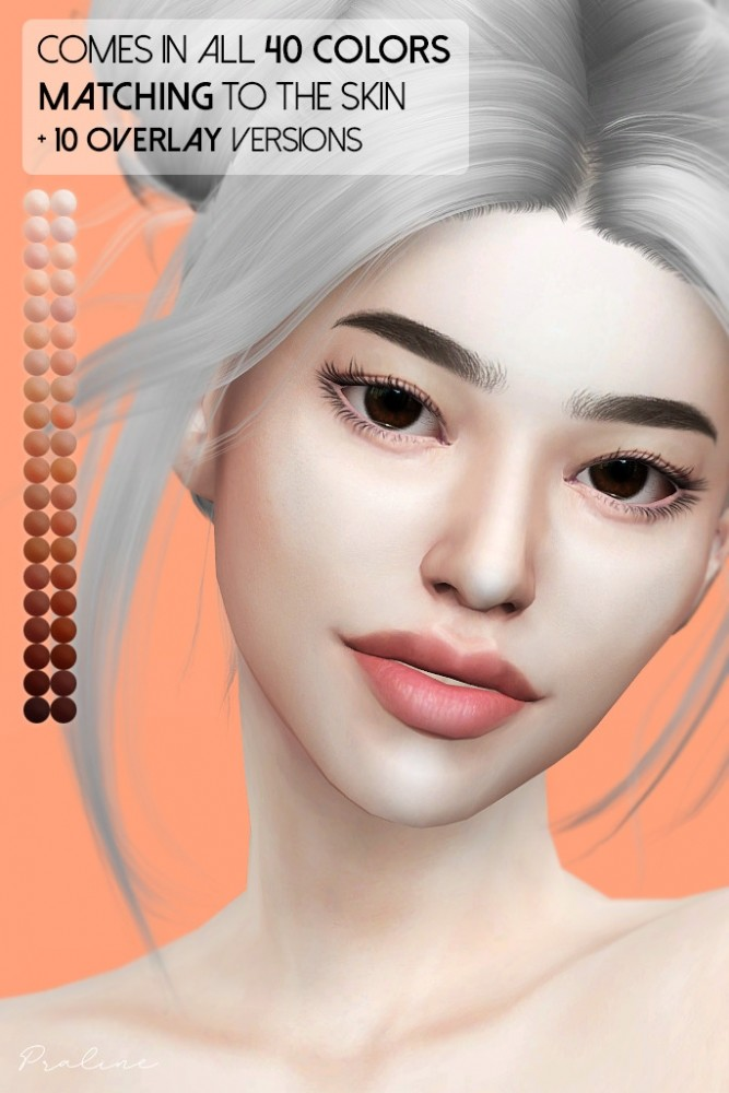 Sims 4 Lychee skin & Persimmon double eyelid mask at Praline Sims