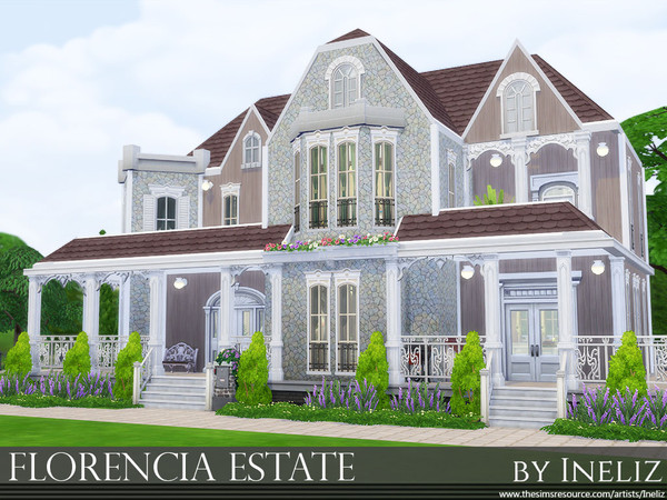 Florencia Estate family home by Ineliz at TSR image 146 Sims 4 Updates