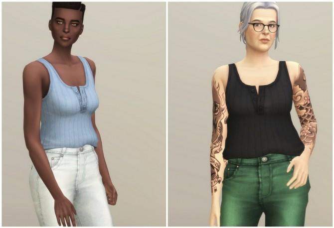 Basic Sleeveless T Shirt II Stripe at Rusty Nail image 14610 670x458 Sims 4 Updates
