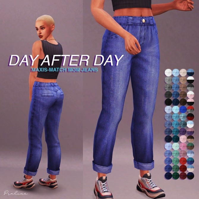 Mom Jeans edit at Praline Sims image 14811 670x670 Sims 4 Updates