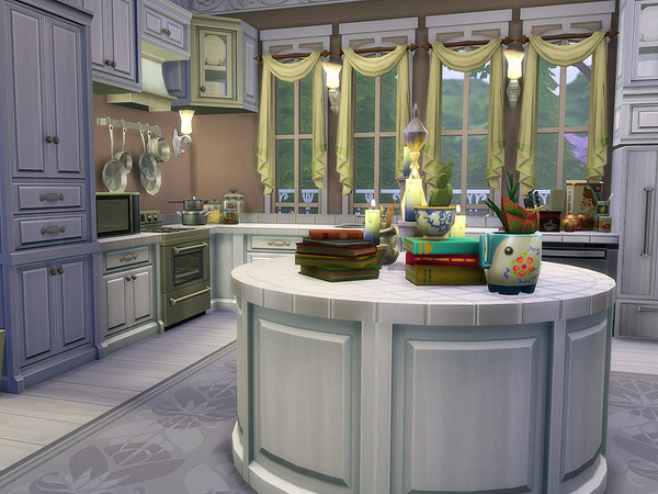 Sims 4 Florencia Estate family home by Ineliz at TSR