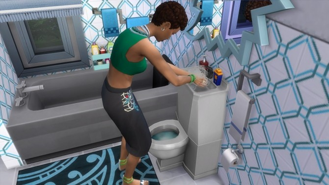 Modern Toilet/Sink Combo by K9DB at Mod The Sims image 14911 670x377 Sims 4 Updates