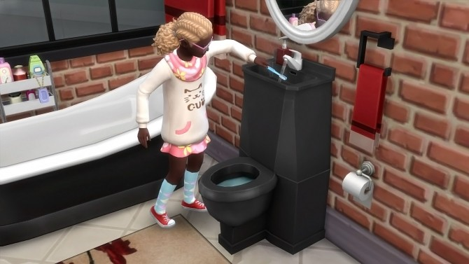 Modern Toilet/Sink Combo by K9DB at Mod The Sims image 15012 670x377 Sims 4 Updates