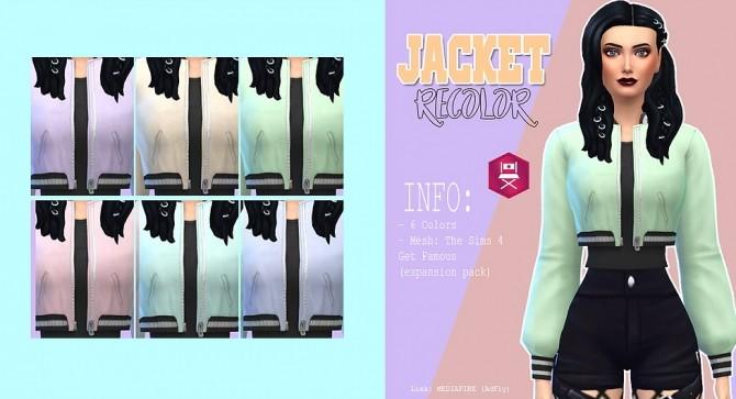 Sims 4 Jacket recolor at Kass