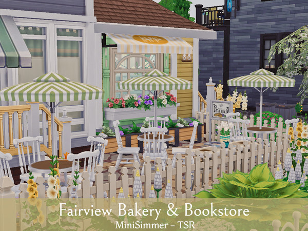Fairview Bakery Amp Bookstore By Mini Simmer At Tsr 187 Sims 4