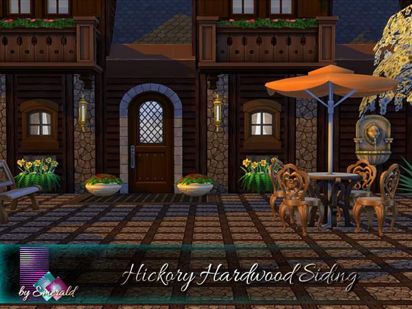 Sims 4 Hickory Hardwood Siding by emerald at TSR