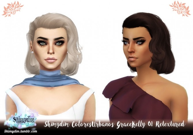 ColoresUrbanos Grace Kelly 01 Hair Retexture Naturals + Unnaturals at Shimydim Sims image 1521 670x468 Sims 4 Updates