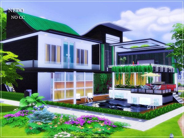 NEDO modern home by marychabb at TSR image 1527 Sims 4 Updates