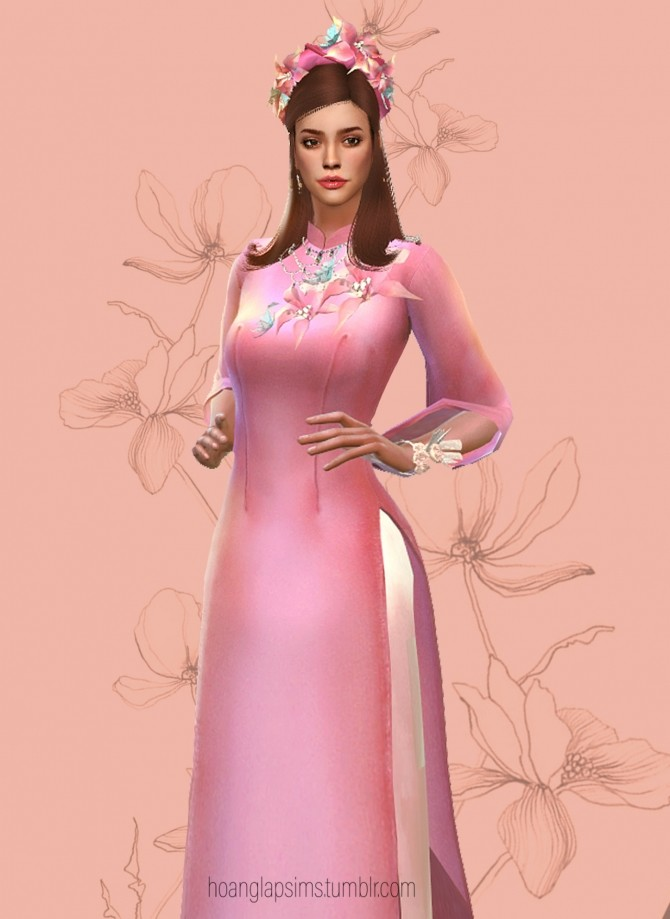 Vietnamese Ao Dai for Lunar New year at HoangLap's Sims image 15313 670x919 Sims 4 Updates