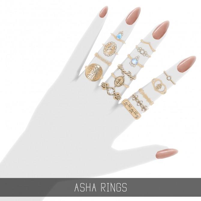 Sims 4 ASHA RINGS at Simpliciaty