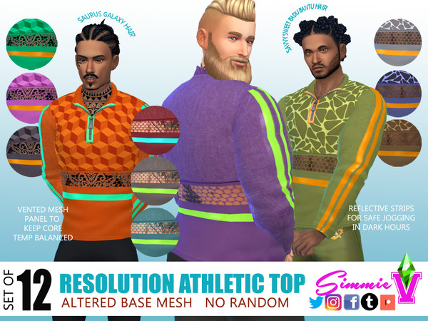 Sims 4 Resolution Athletic Top by SimmieV at TSR