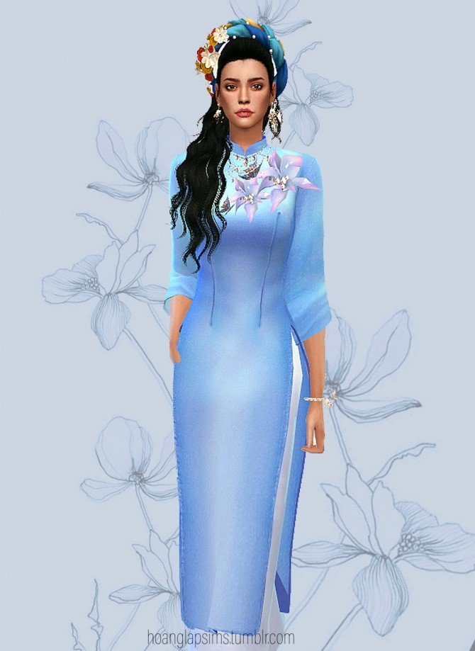 Vietnamese Ao Dai for Lunar New year at HoangLap's Sims image 15714 670x919 Sims 4 Updates