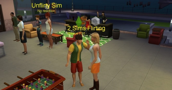 Unflirty Trait Less Annoying by tecnic at Mod The Sims image 1593 670x353 Sims 4 Updates