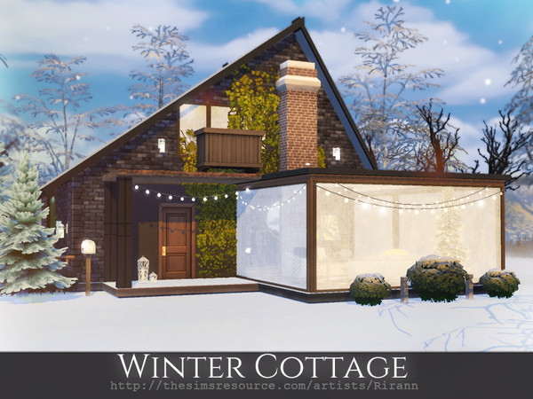 Sims 4 Winter Cottage by Rirann at TSR