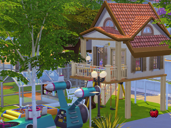 Sims 4 Treehouse Park by melapples at TSR