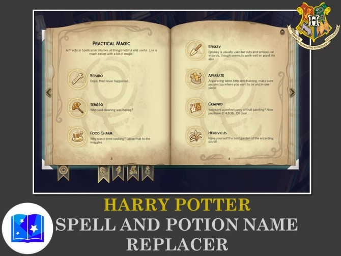 Harry Potter Spell and Potion Name Replacer by Teknikah at Mod The Sims image 1617 670x503 Sims 4 Updates