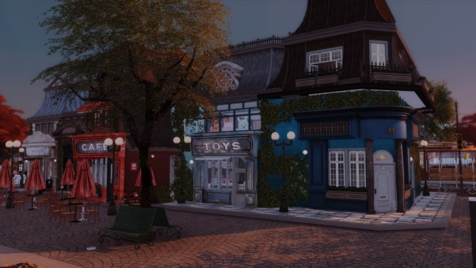 Sims 4 98 | OLD TOWN RETAIL LOT at SoulSisterSims
