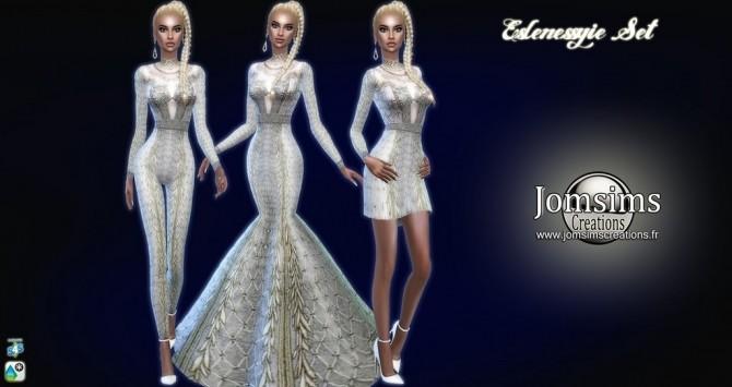 Sims 4 Eslenessyie set: dresses & jumpsuit at Jomsims Creations