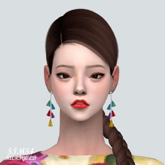 Sims 4 Tassel Chain Earrings at Marigold