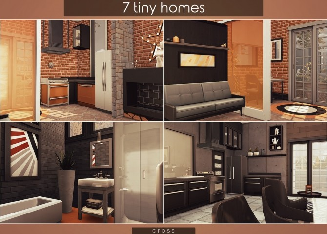 7 Tiny Homes by Praline at Cross Design image 16511 670x479 Sims 4 Updates