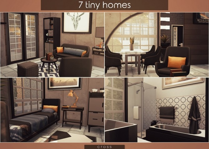 7 Tiny Homes by Praline at Cross Design image 16610 670x479 Sims 4 Updates