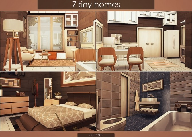 7 Tiny Homes by Praline at Cross Design image 16711 670x479 Sims 4 Updates