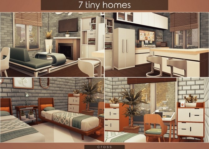7 Tiny Homes by Praline at Cross Design image 16810 670x479 Sims 4 Updates
