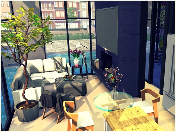 Sims 4 Tiny Lux House by lotsbymanal at TSR